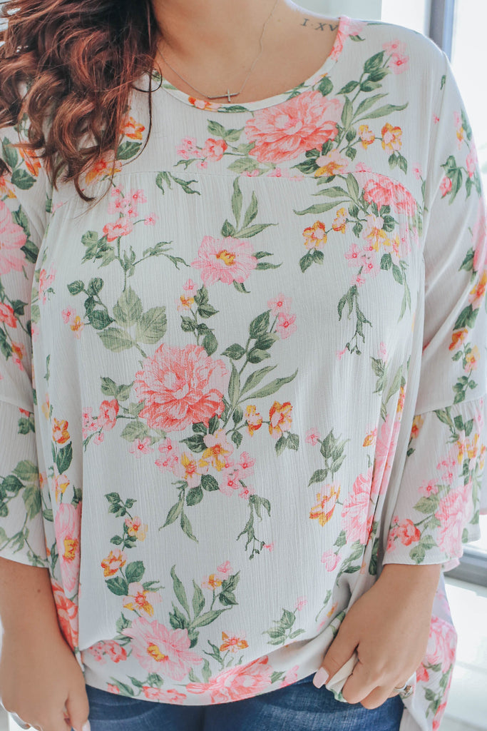 Plus Size Floral Babydoll Top - Online Clothing Boutique