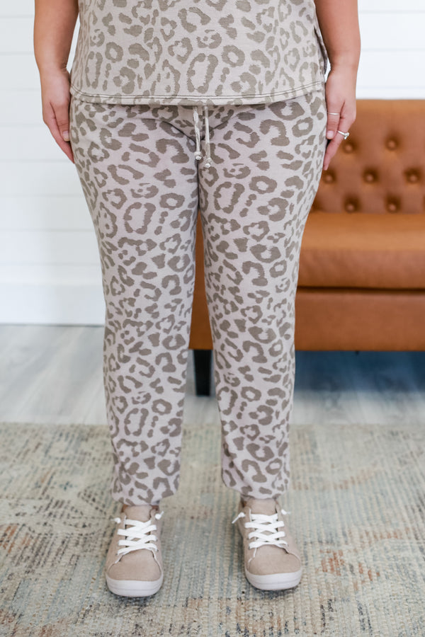 Leopard Print Joggers | Stylish & Affordable | UOI Online