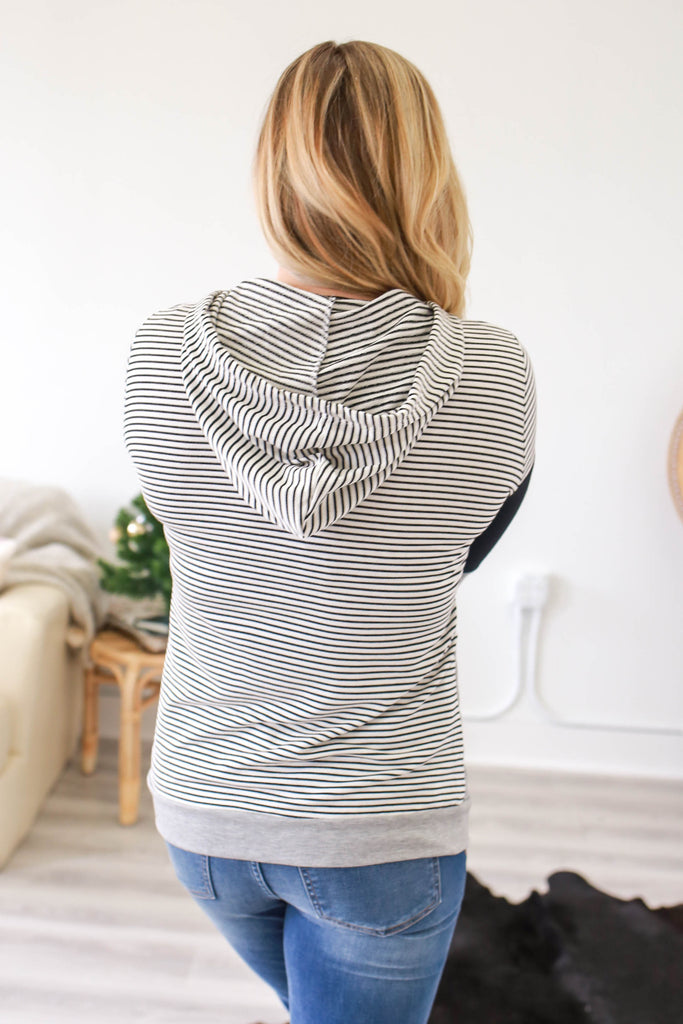 Striped Sweatshirt - Online Clothing Boutique