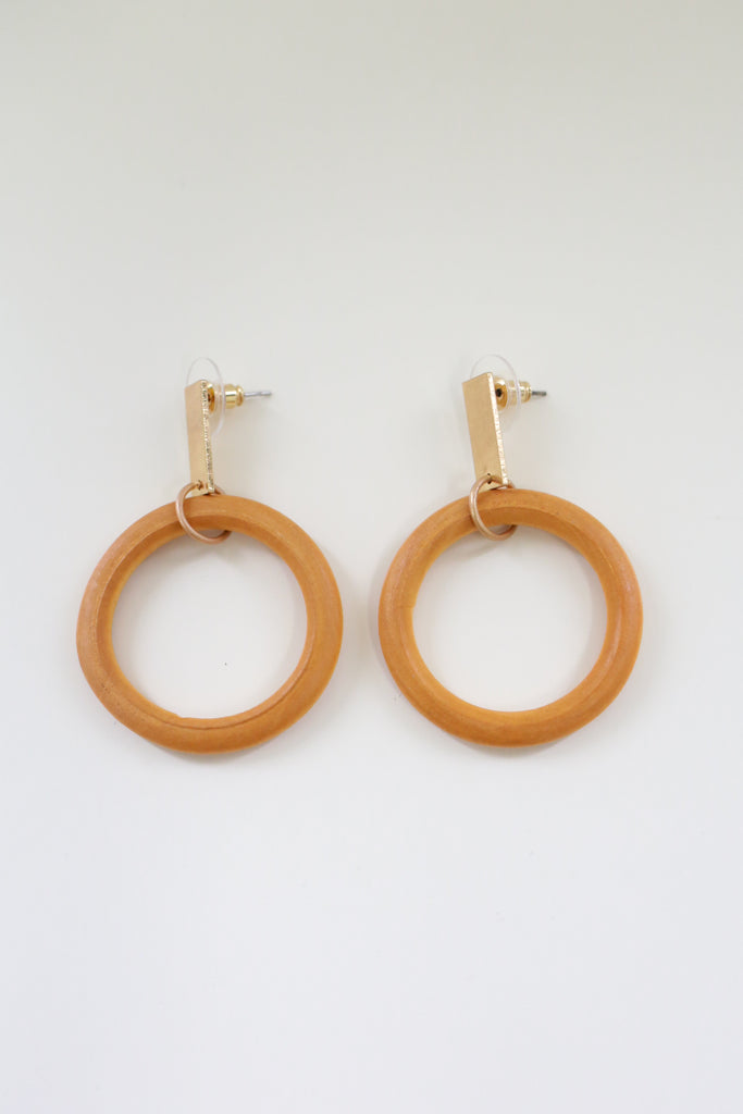 Wood Earrings - Online Clothing Boutique