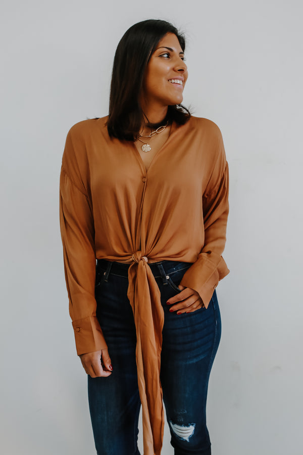 Button Front Satin-Like Crop Top | Stylish & Affordable | UOI Online