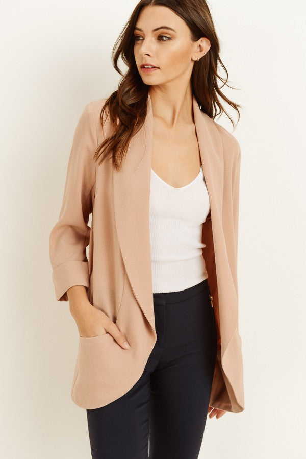 Chic Long Sleeve Blazer Jacket - Online Clothing Boutique