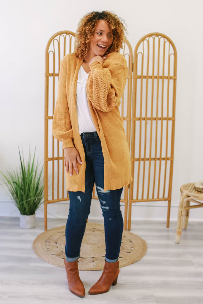 Balloon Sleeve Cardigan | Stylish & Affordable | UOI Online