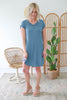 V-Neck T-Shirt Dress - Online Clothing Boutique