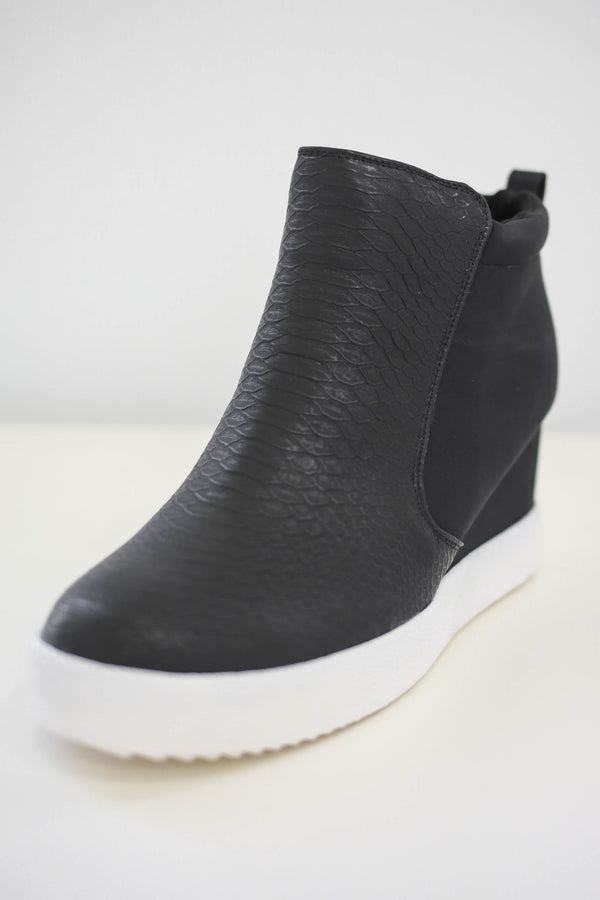 Faux Leather Sneaker Wedges | Stylish & Affordable | UOI Online