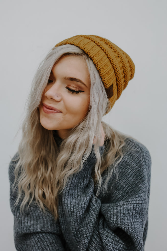 Cold Weather Beanie - Mustard