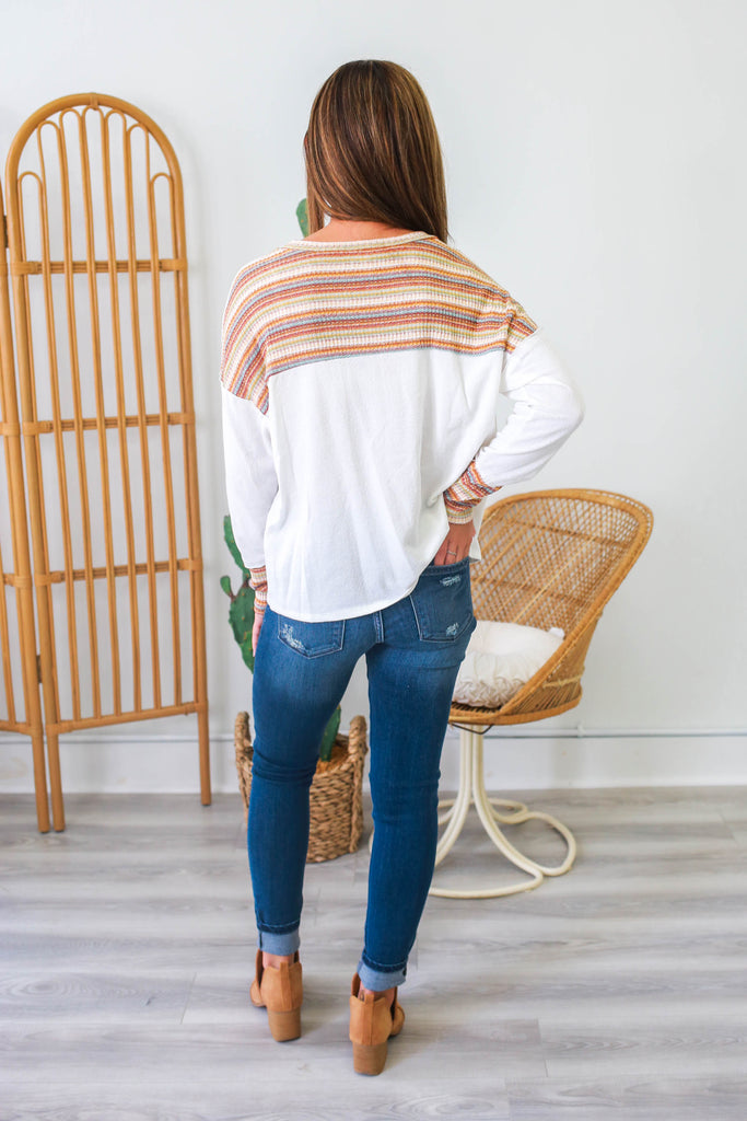 Striped Long Sleeve Top | Stylish & Affordable | UOI Online