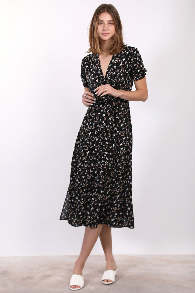 Floral Wrap Dress - Online Clothing Boutique
