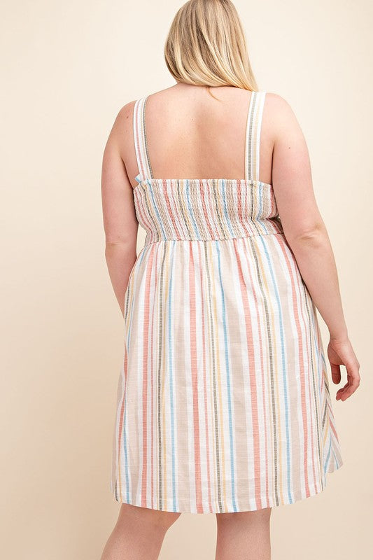 Plus Size Striped Dress - Online Clothing Boutique