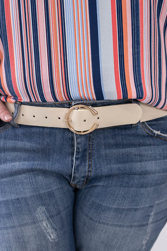 Plus Size Faux Leather Belt - Online Clothing Boutique
