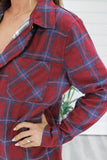 Zip Up Plaid Jacket - Online Clothing Boutique