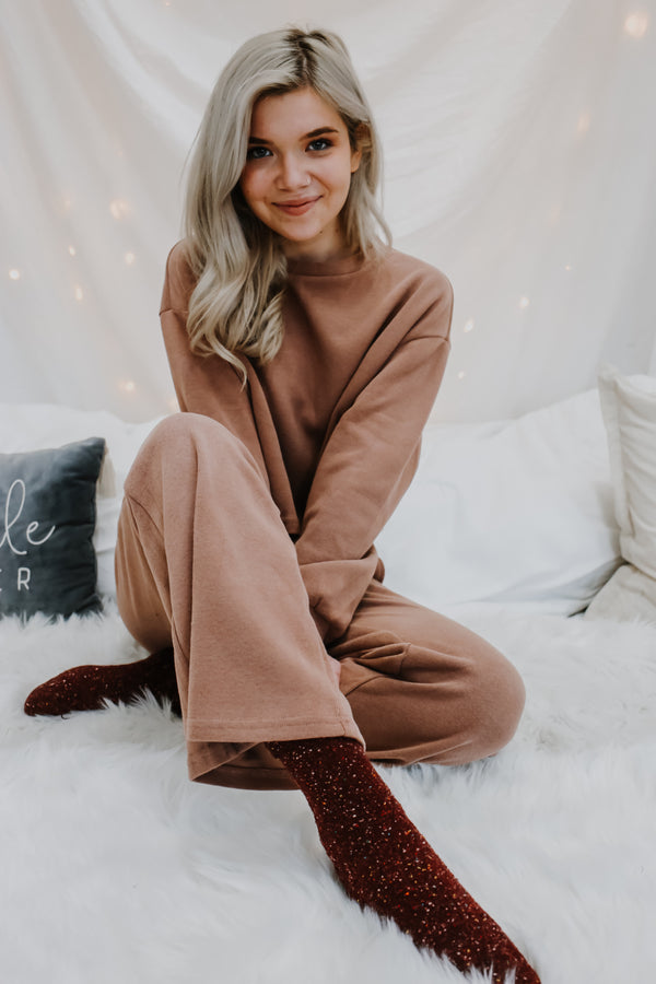 Two-Piece Knit Lounge Set | Stylish & Affordable | UOI Online