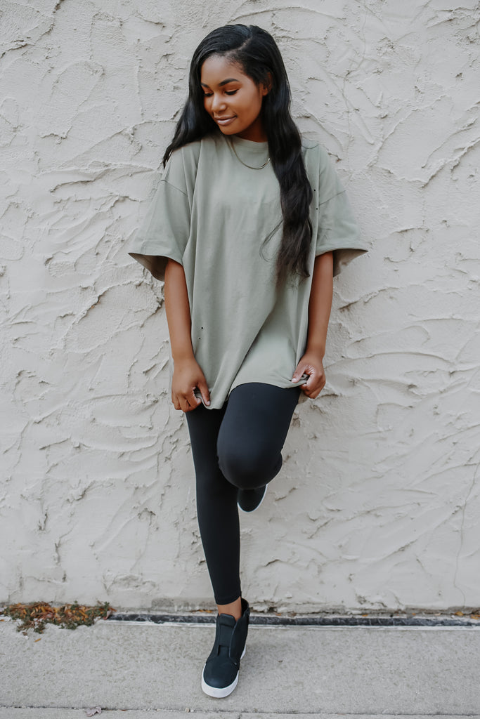 Distressed Oversized Tee | Stylish & Affordable | UOI Online