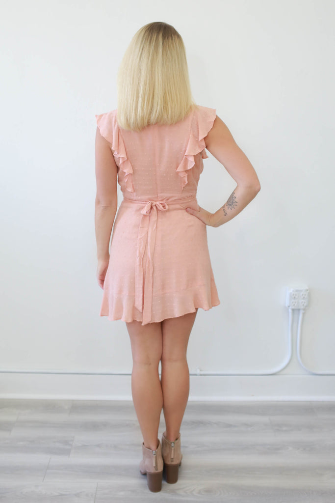 Ruffled Mini  Dress - Online Clothing Boutique