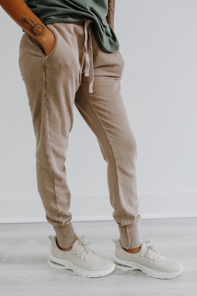 Cozy Living Joggers - Taupe
