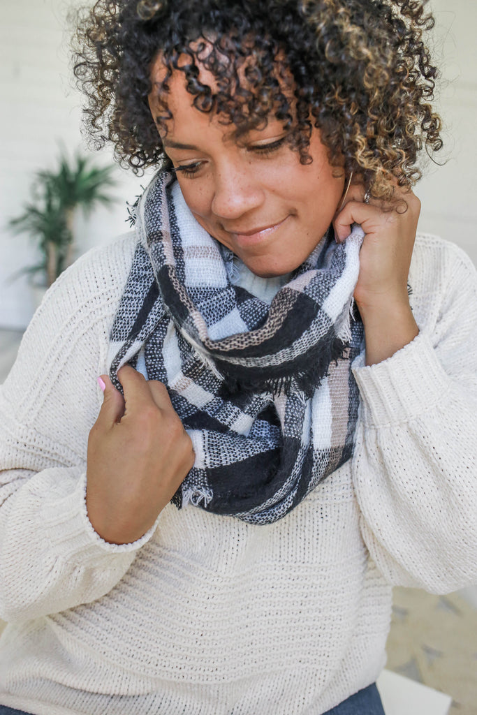 Plaid Infinity Scarf - Online Clothing Boutique