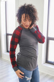 Buffalo Plaid Top - Online Clothing Boutique
