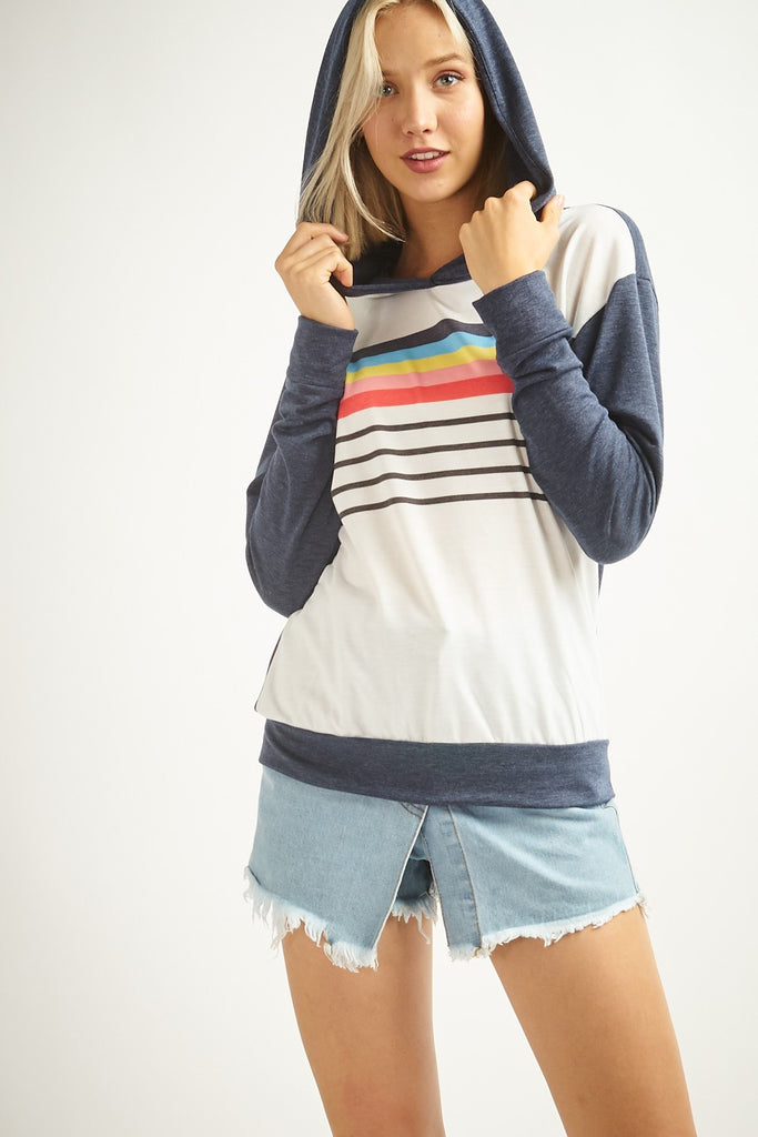 Striped Lightweight Sweatshirt | Stylish & Affordable | UOI Online