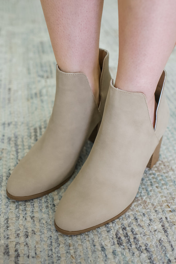 Taupe Ankle Booties | Stylish & Affordable | UOI Online