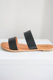 Dual Strap Faux Leather Sandals - Online Clothing Boutique