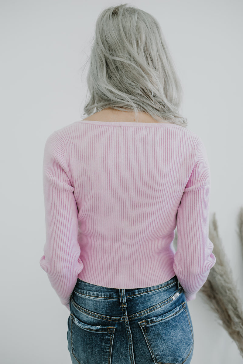 Ribbed Knit Long Sleeve Cropped Sweater | Stylish & Affordable | UOI Online