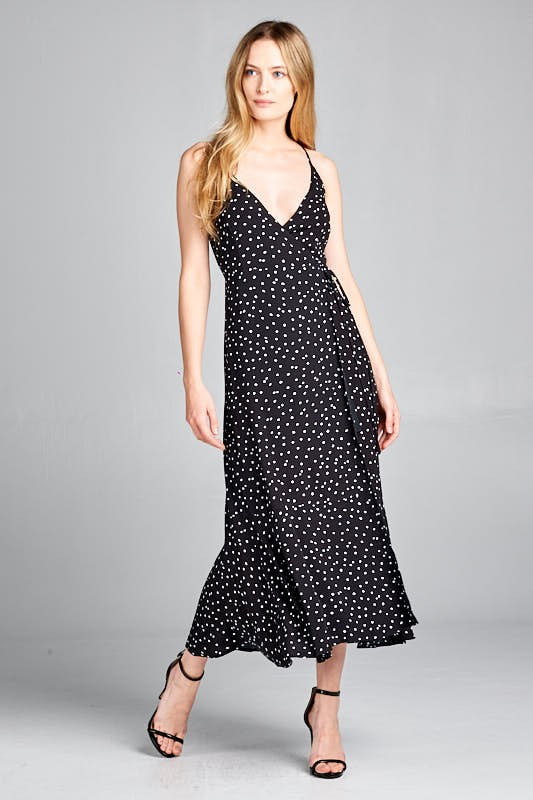 Polka Dot Midi Dress | Stylish & Affordable | UOI Online