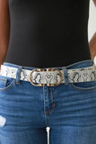Faux Leather Snakeskin Belt - Online Clothing Boutique