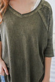 Washed Out Thermal Top - Online Clothing Boutique