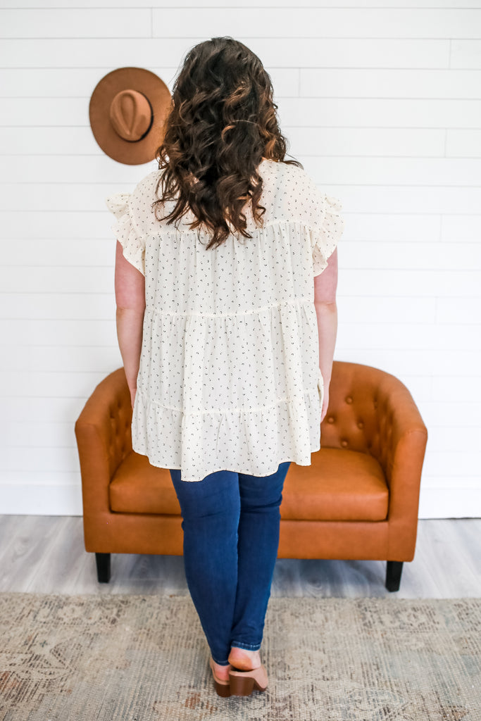 Plus Size Ruffle Sleeve Top | Stylish & Affordable | UOI Online