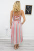 Sleeveless Striped Midi Dress - Online Clothing Boutique