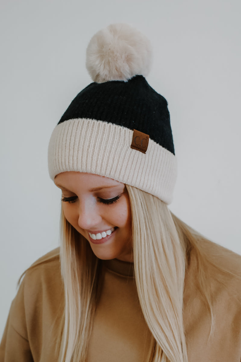 Color Block Ribbed Knit Beanie | Stylish & Affordable | UOI Online