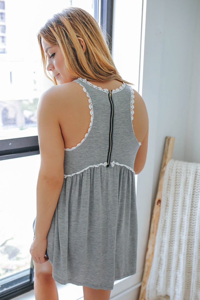 Babydoll Tank Top - Online Clothing Boutique