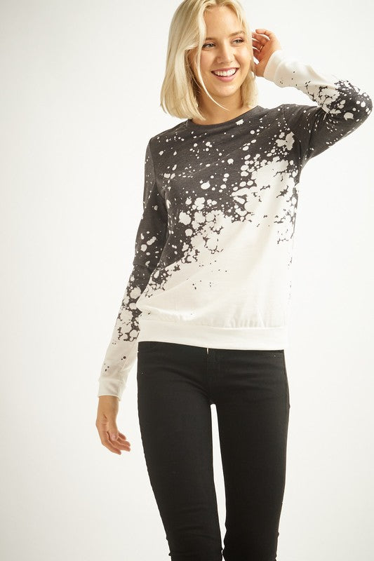 Bleached Crew Neck Top | Stylish & Affordable | UOI Online
