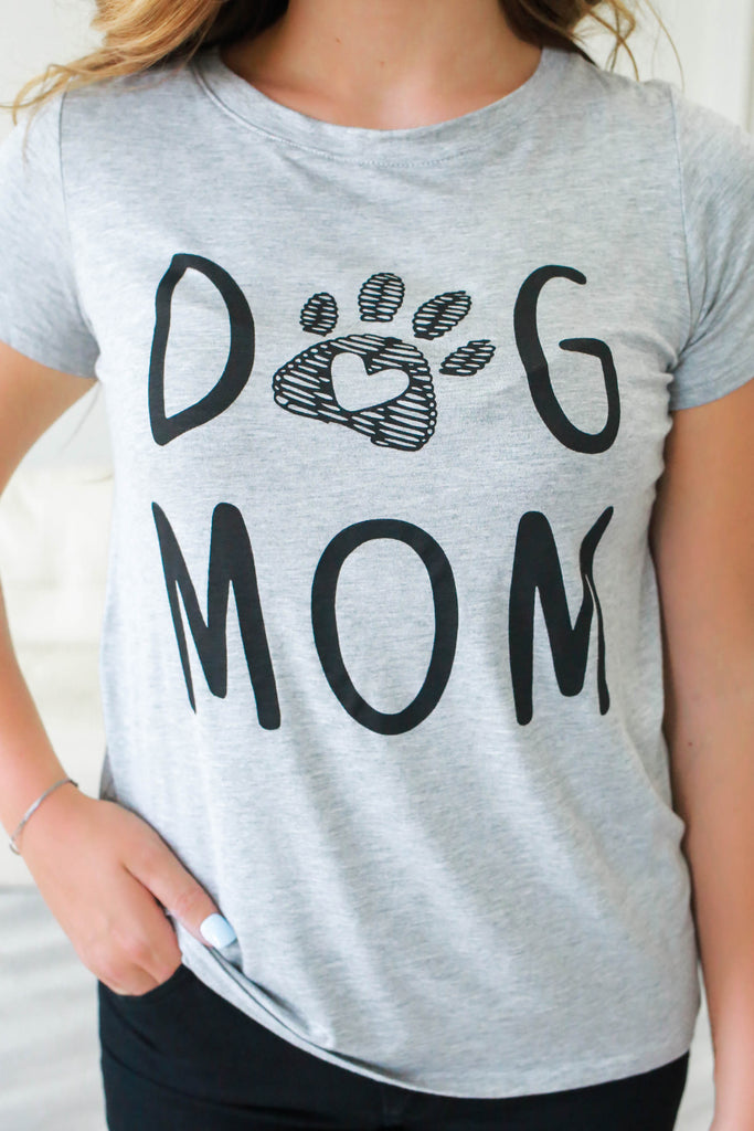 Dog Mom Graphic Tee - Online Clothing Boutique