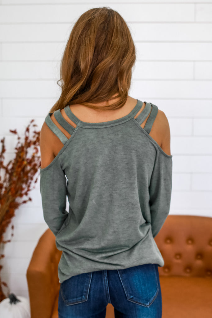 Long Sleeve Cold Shoulder Top | Stylish & Affordable | UOI Online