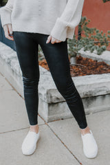 High-Waisted Textured Leggings | Stylish & Affordable | UOI Online
