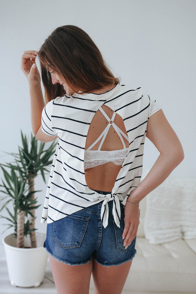 Striped Top - Online Clothing Boutique