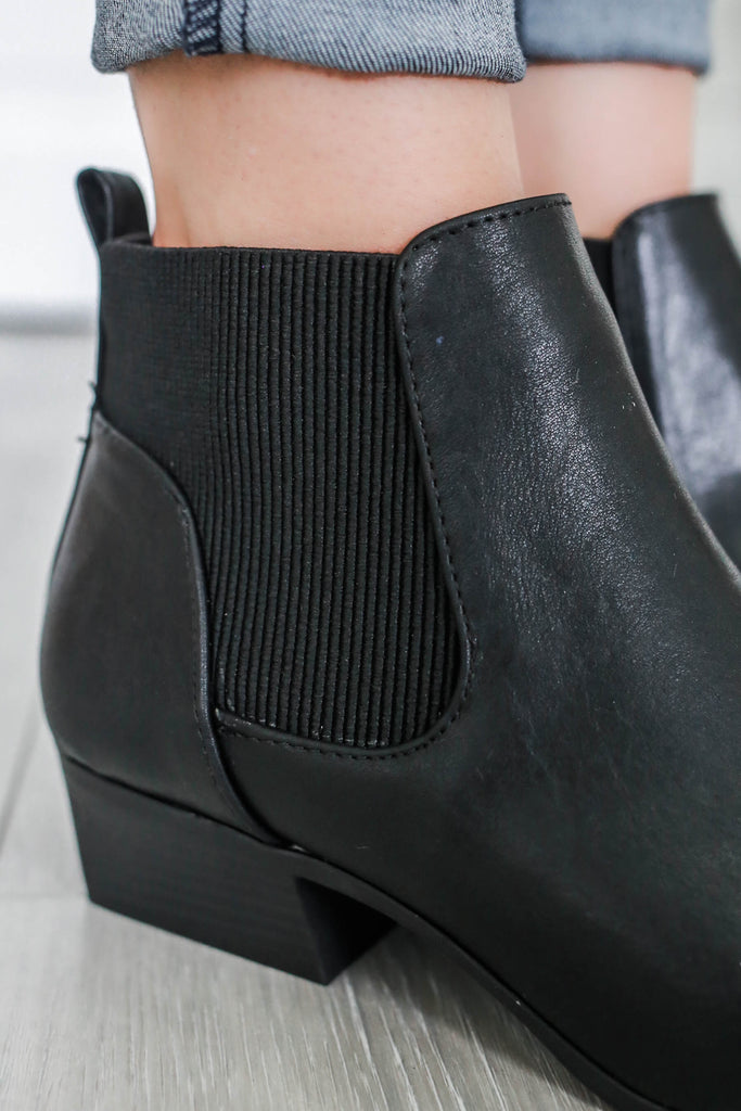 Muni-23 Faux Leather Ankle Booties - Online Clothing Boutique