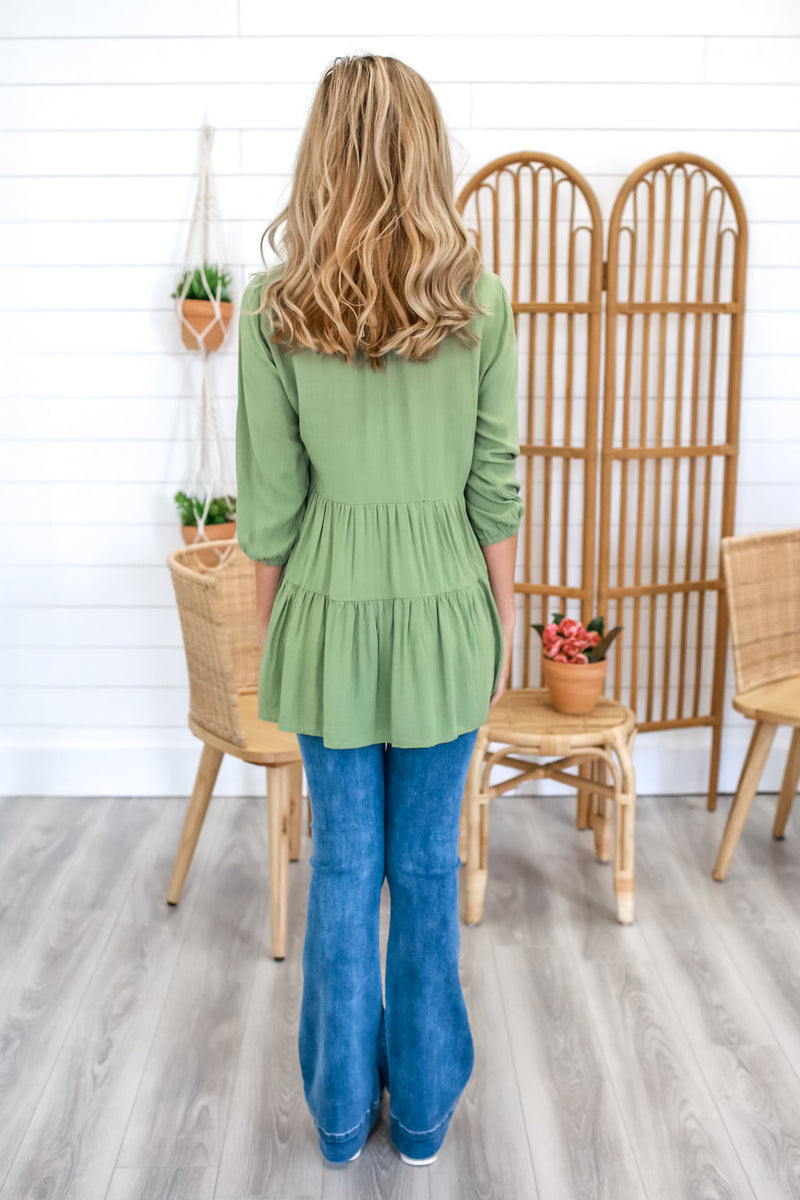 Linen-Like Tiered Top | Stylish & Affordable | UOI Online