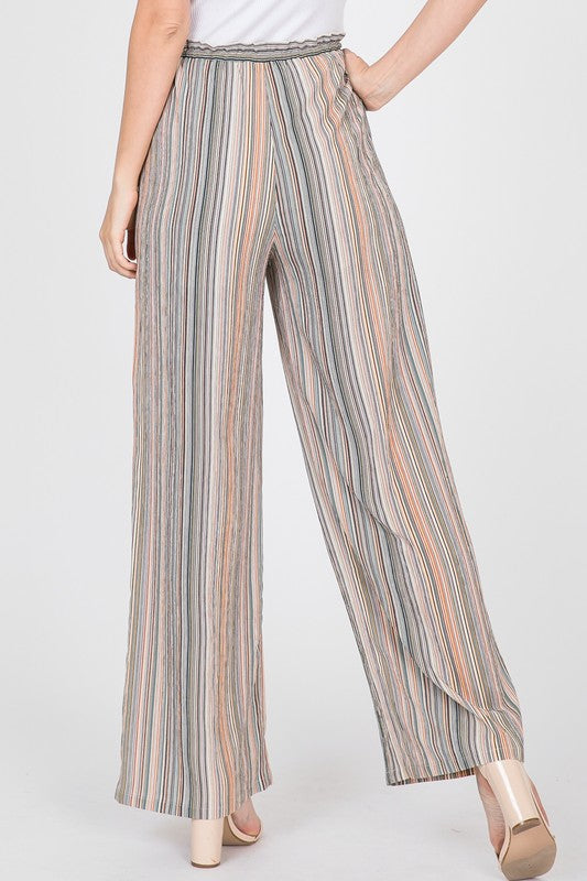Striped Wide Leg Pants - Online Clothing Boutique