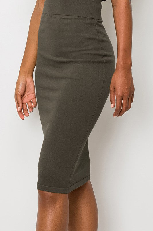 Pencil Midi Skirt | Stylish & Affordable | UOI Online