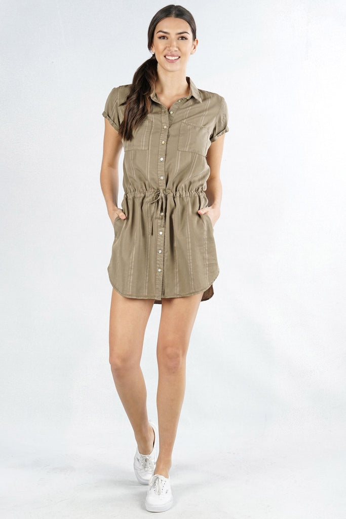 Striped Shirt Dress - Online Clothing Boutique