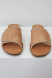 Faux Leather Studded Sandals - Online Clothing Boutique