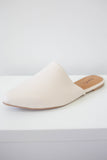 Faux Leather Pointed Toe Mules - Online Clothing Boutique