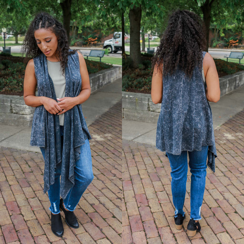 Easy Does It Vest - Charcoal