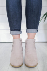 Topanga-10 Faux Suede Ankle Booties - Online Clothing Boutique