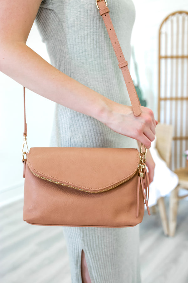 Ellis Island Crossbody Bag - Dark Blush