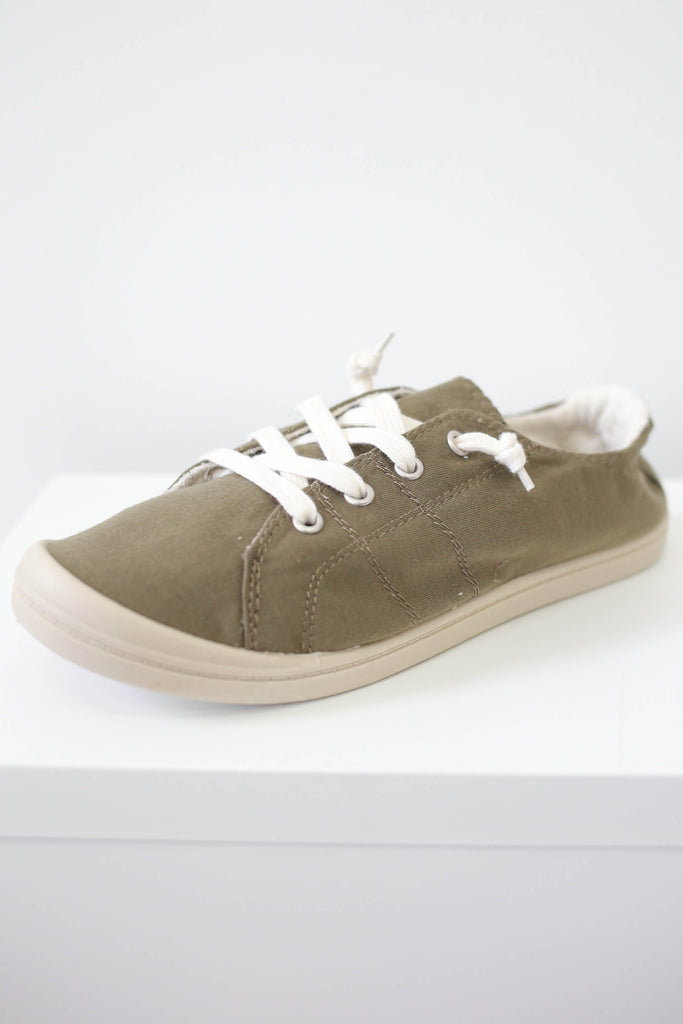 Lace Up Sneakers - Online Clothing Boutique