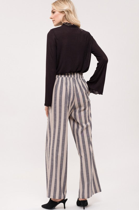 Striped Wide Leg Pants | Stylish & Affordable | UOI Online