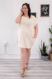 Plus Size Striped Shift Dress - Online Clothing Boutique